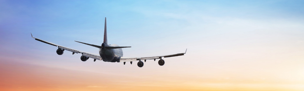 image of airplane on The Airport Shuttle website