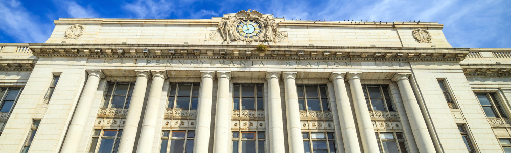 image of exterior of train station
